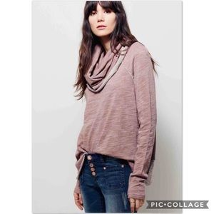 Free People Beach XS/ S Cocoon Cowl Neck Pullover